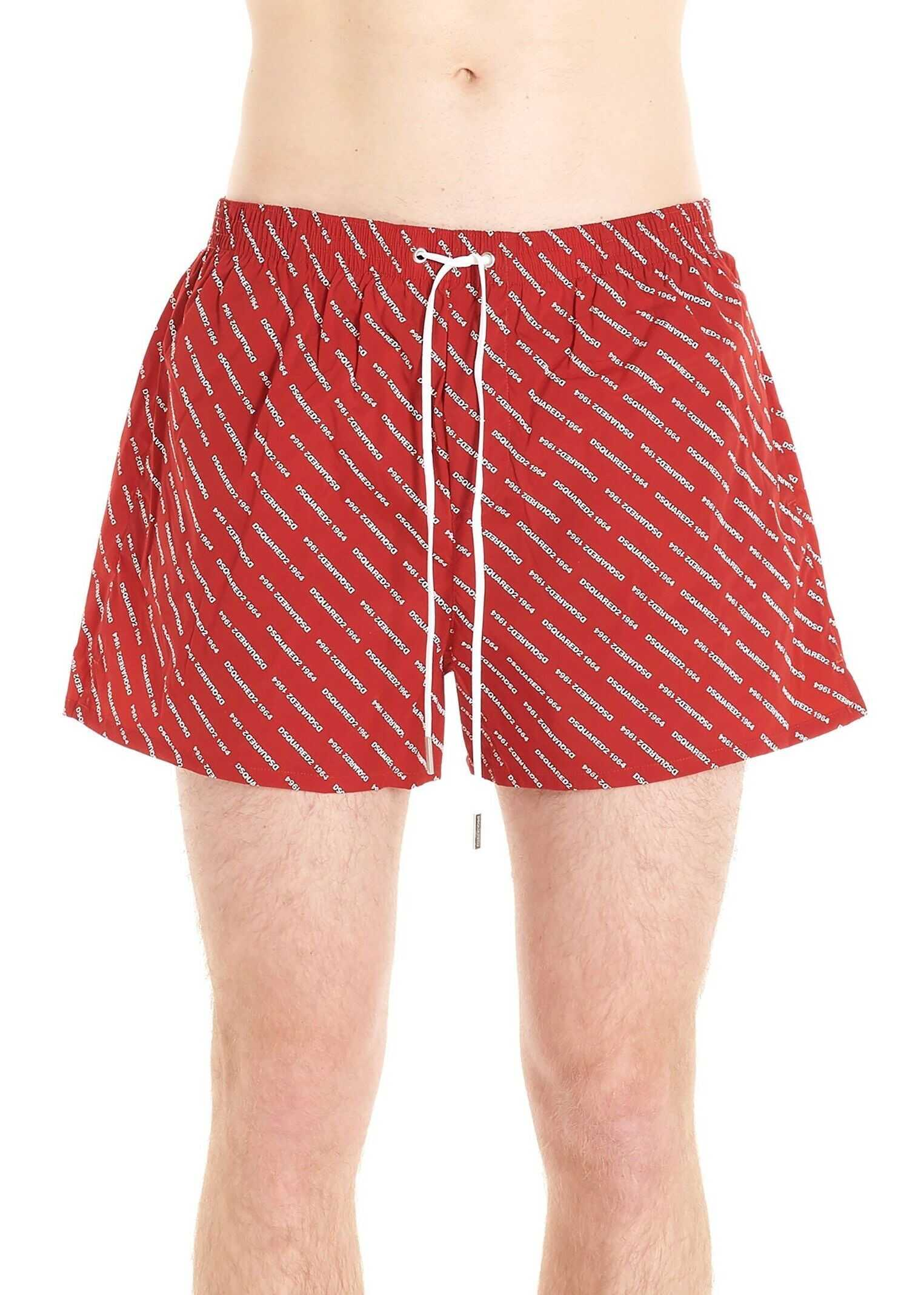 DSQUARED2 Polyamide Trunks RED