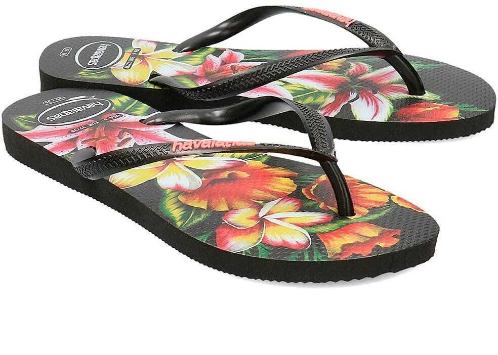 Havaianas Slim Floral Czarny
