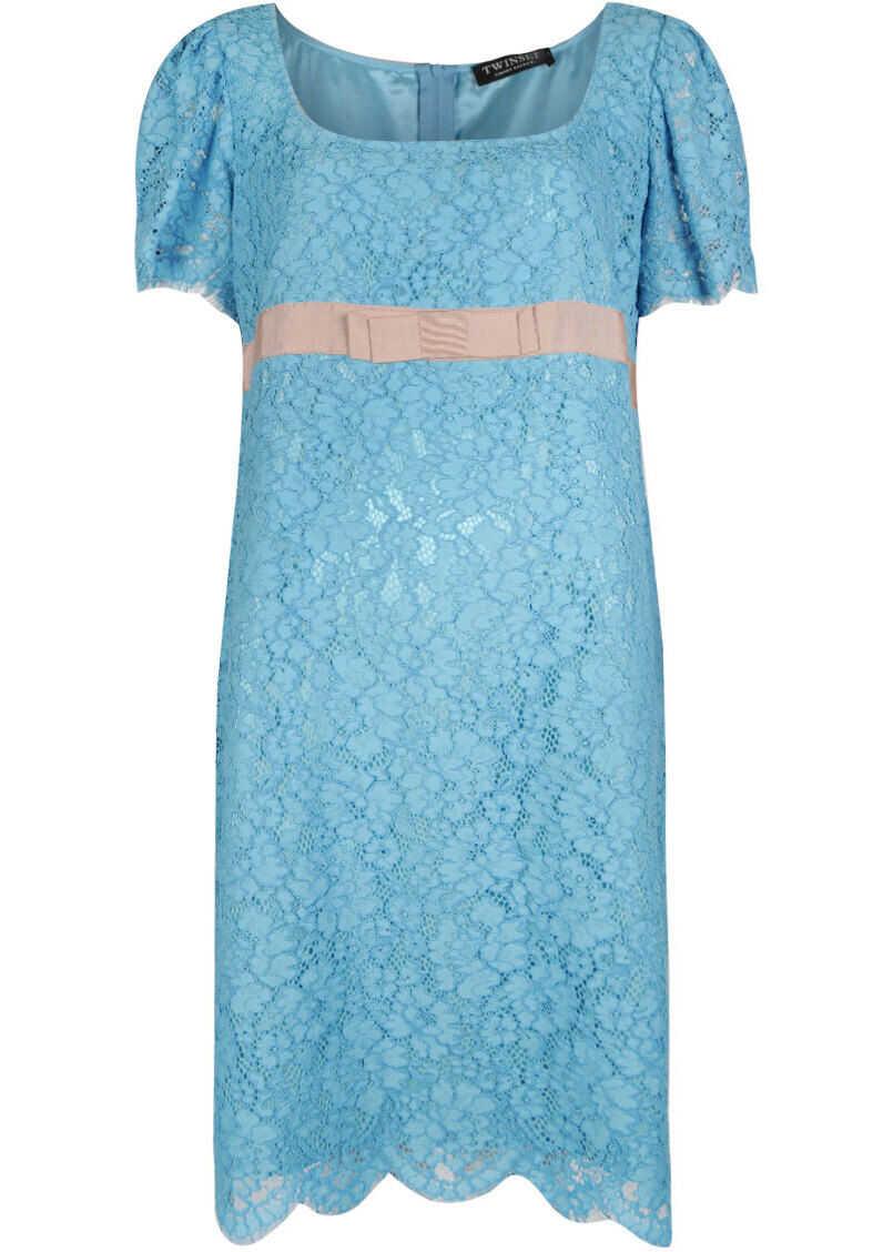 Twin-set Simona Barbieri Lace Dress PS82XA Niebieski