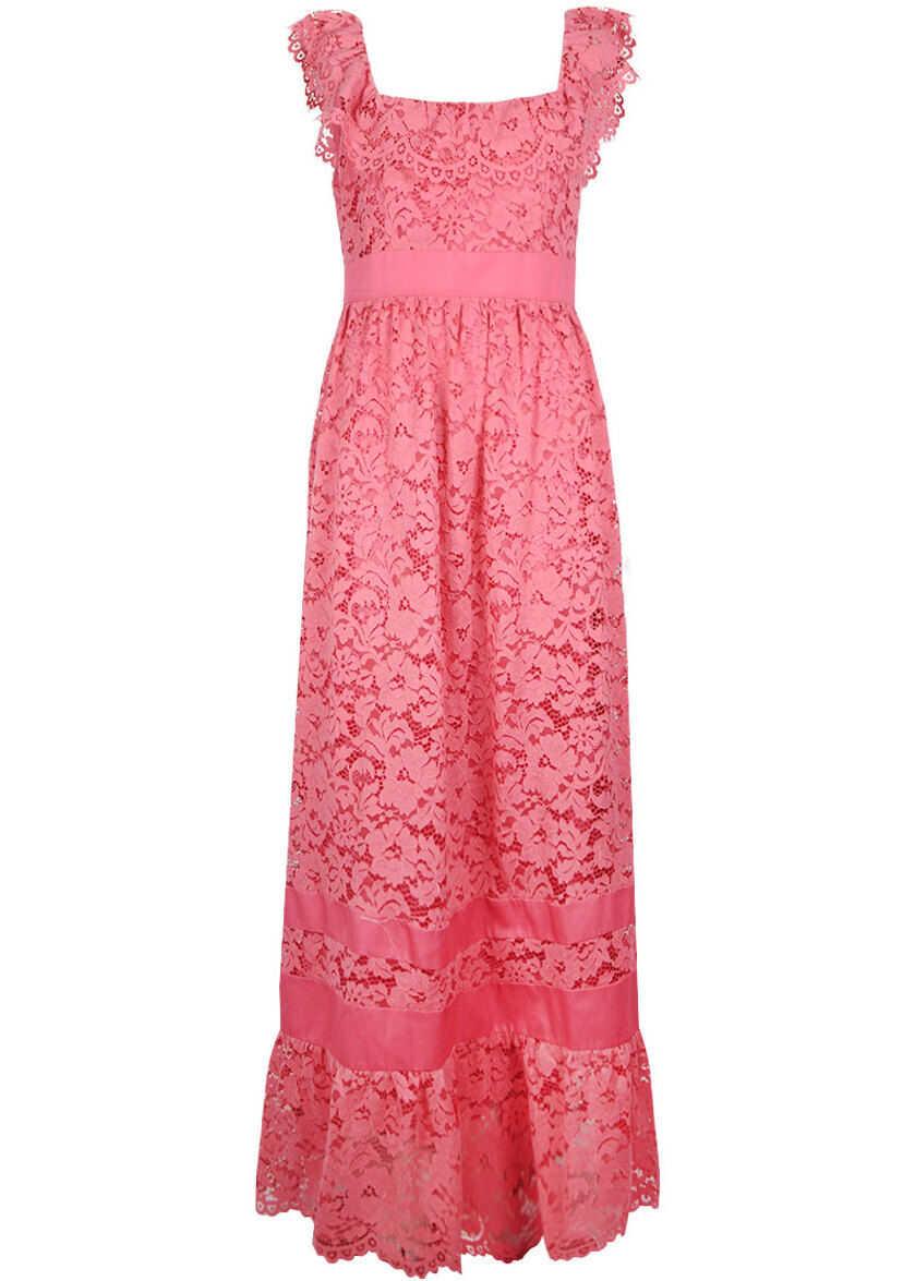 Twin-set Simona Barbieri Lace Dress TS828N Różowy