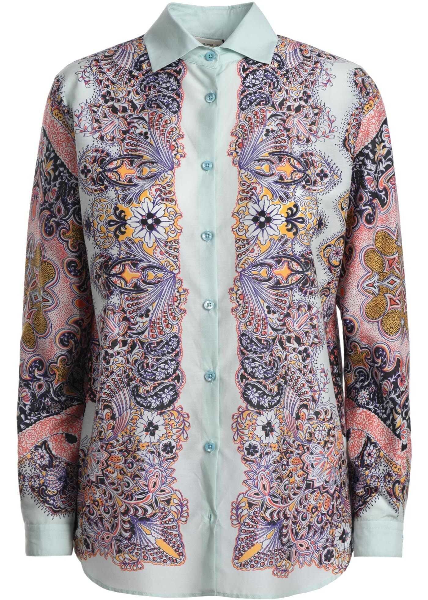 ETRO Silk Shirt LIGHT BLUE