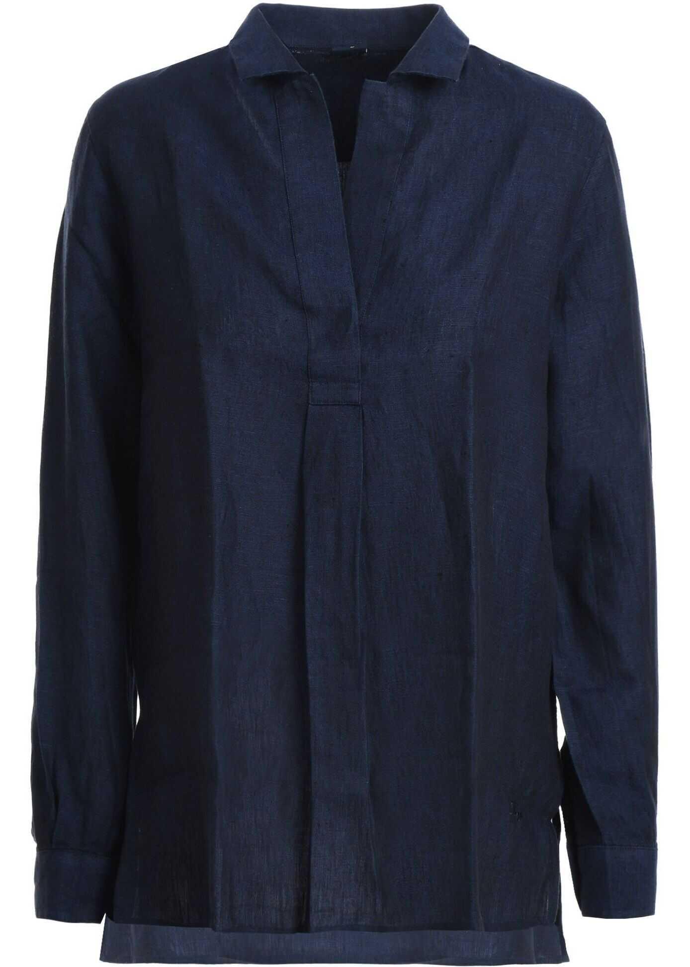 Fay Linen Shirt BLUE