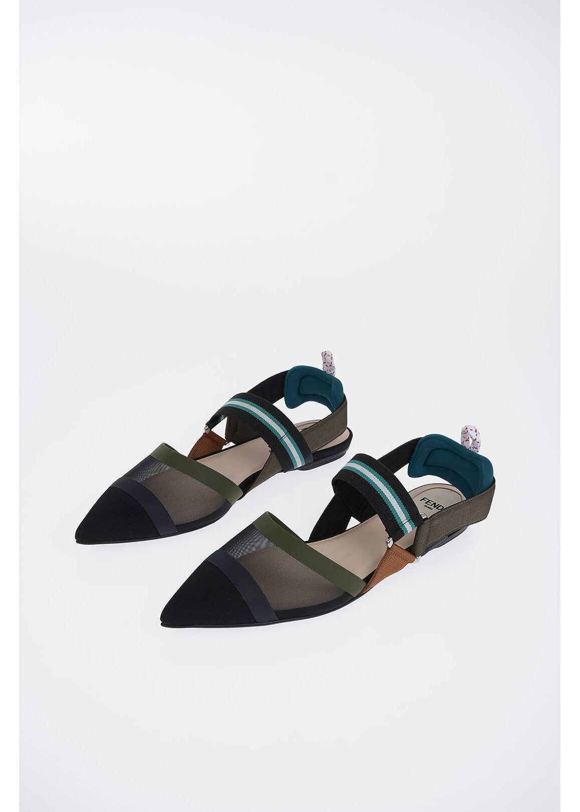 Fendi leather sabot MULTICOLOR
