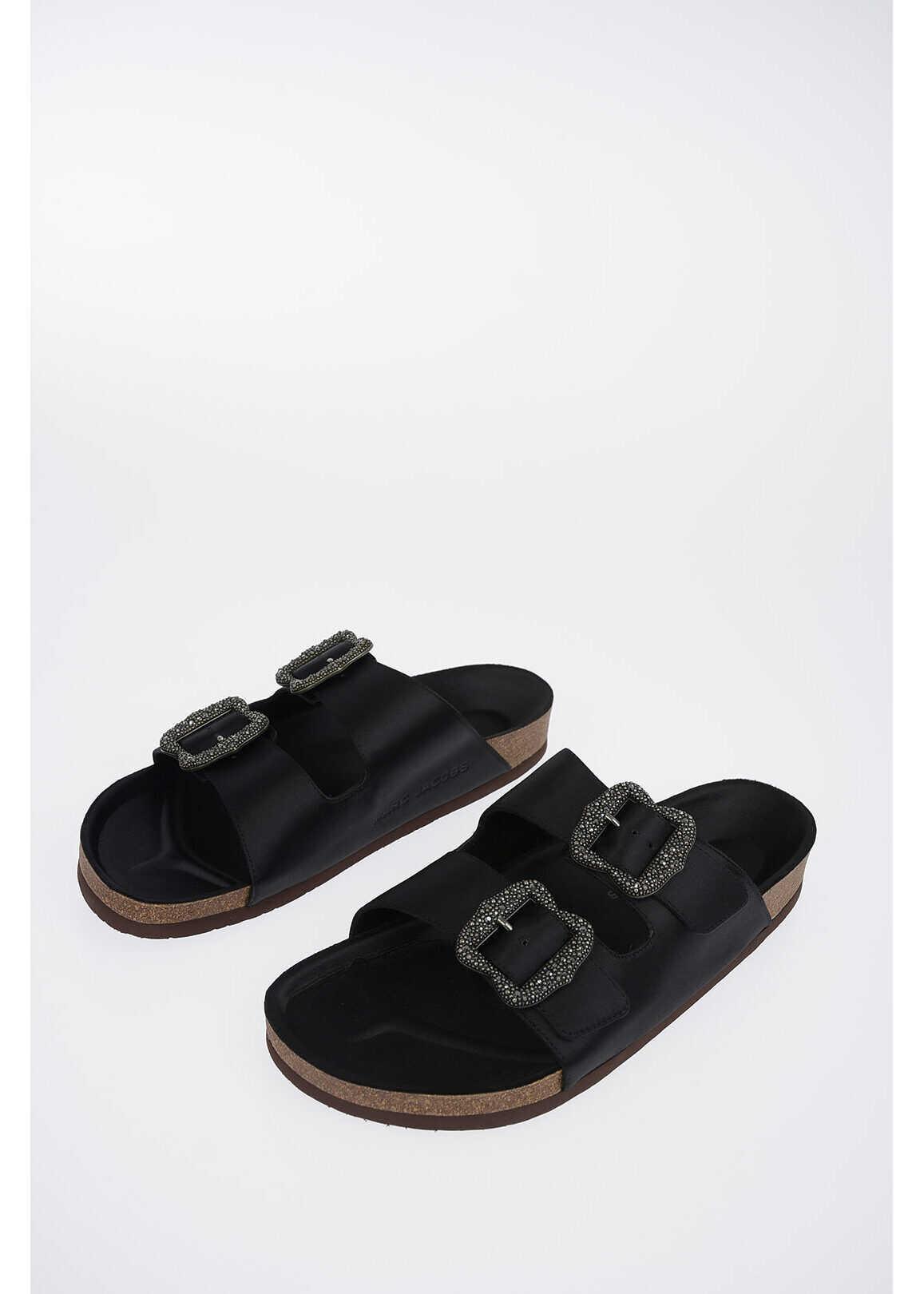 Marc Jacobs REDUX GRUNGE leather sandals BLACK