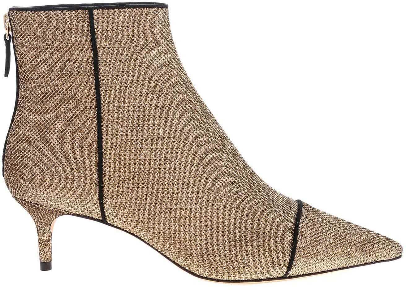 Alexandre Birman Kittie Boot New Fabric Booties In Golden Gold
