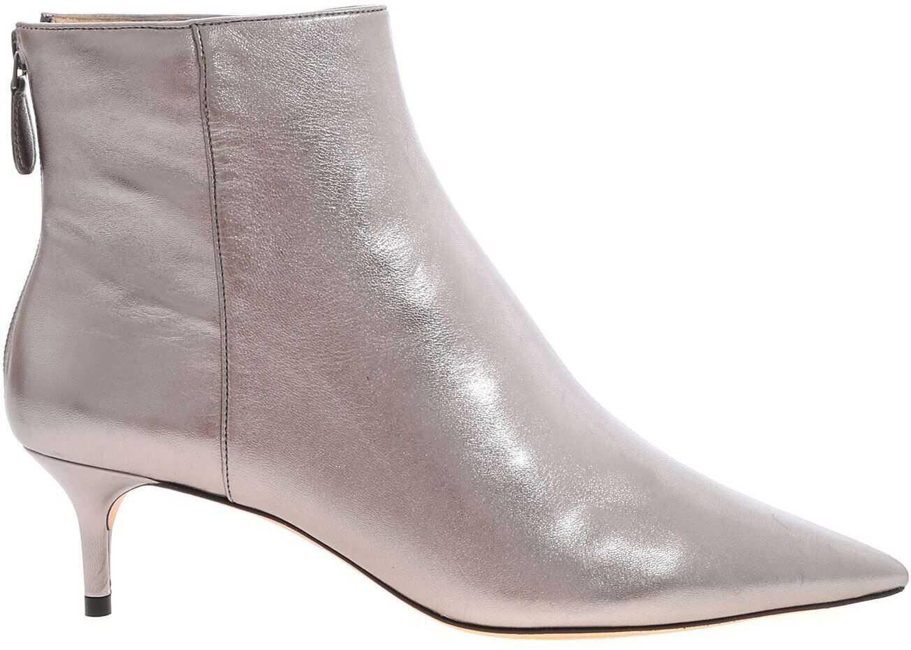 Alexandre Birman Kitie Boots In Silver Silver