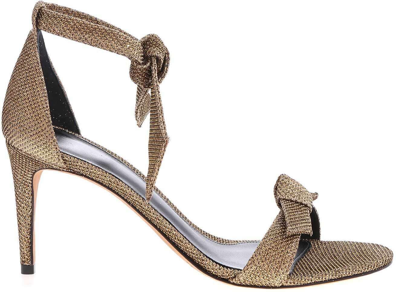 Alexandre Birman Clarita 75 Sandals In Gold Gold