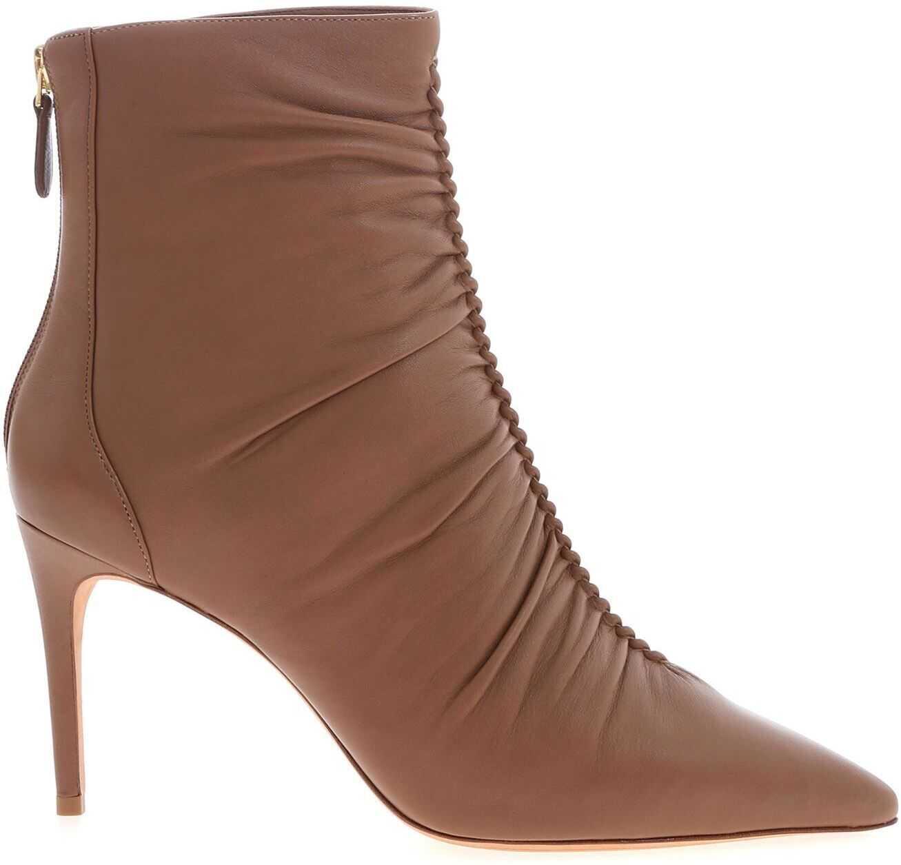Alexandre Birman Susanna Bottie 85 Boots In Beige Brown