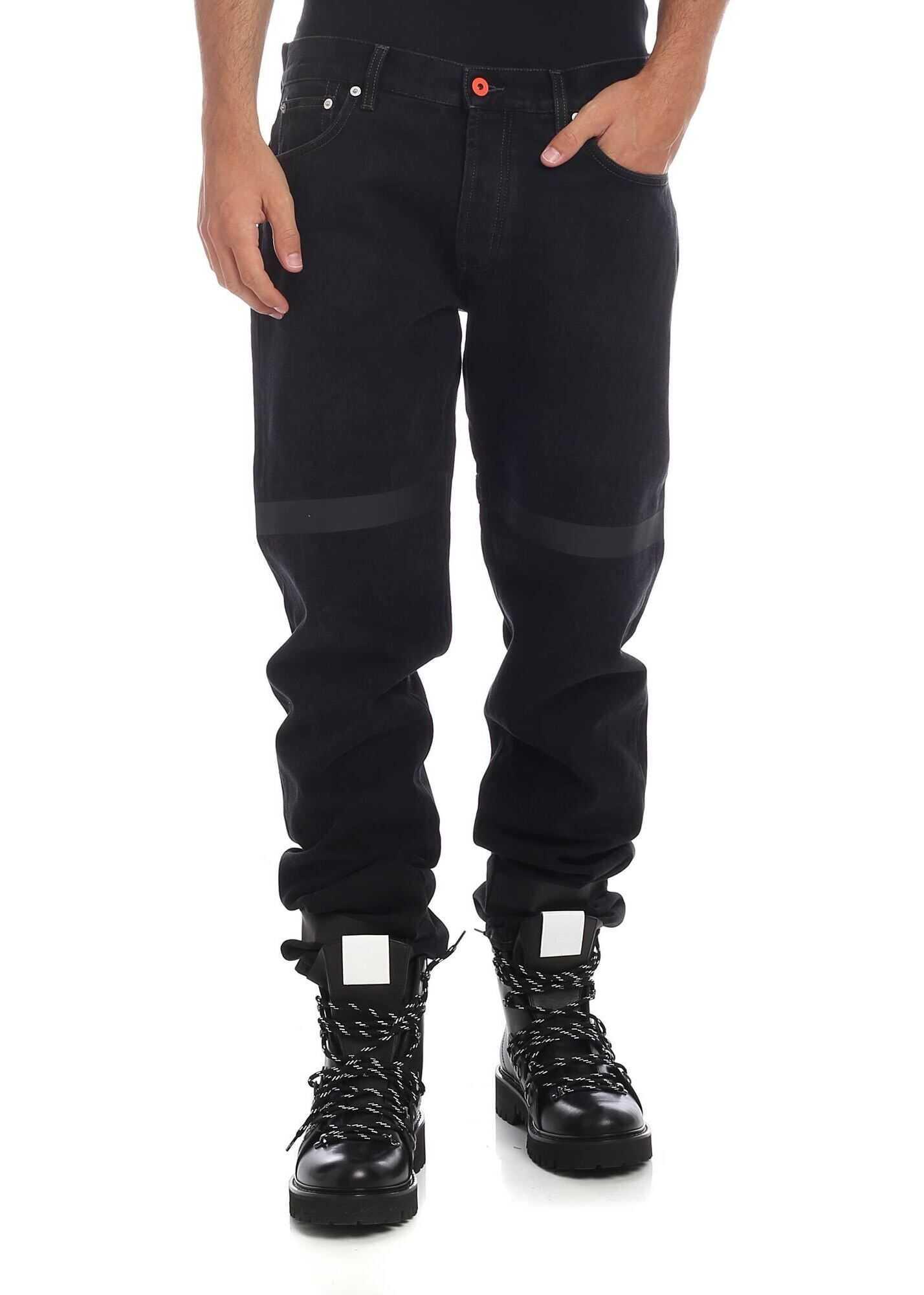 Heron Preston Jeans Tape In Black Black imagine