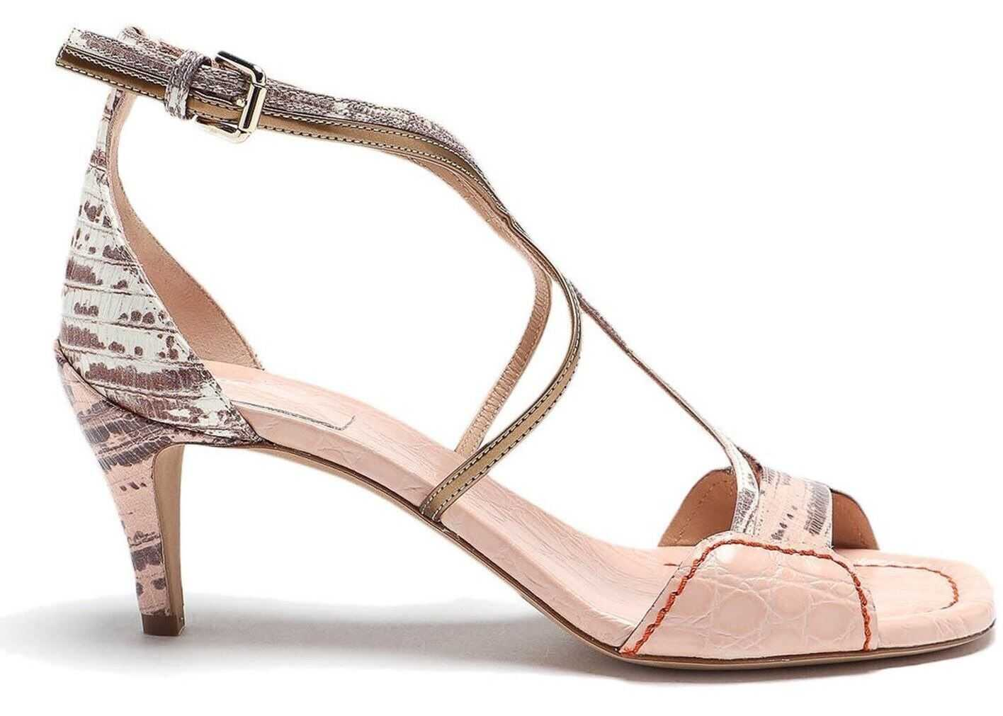 Chloe Carla Heeled Sandals In Pink Pink