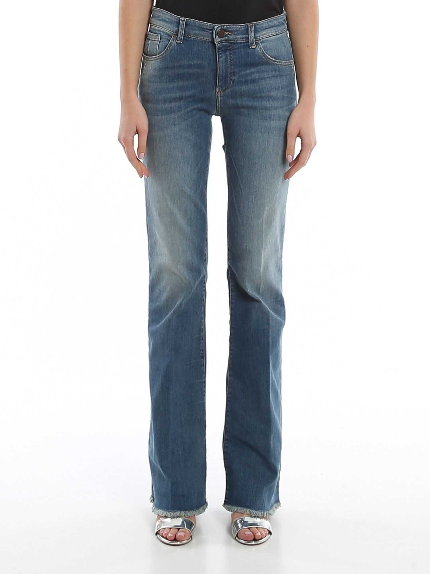 Emporio Armani Used Effect Regular Fit Jeans Blue