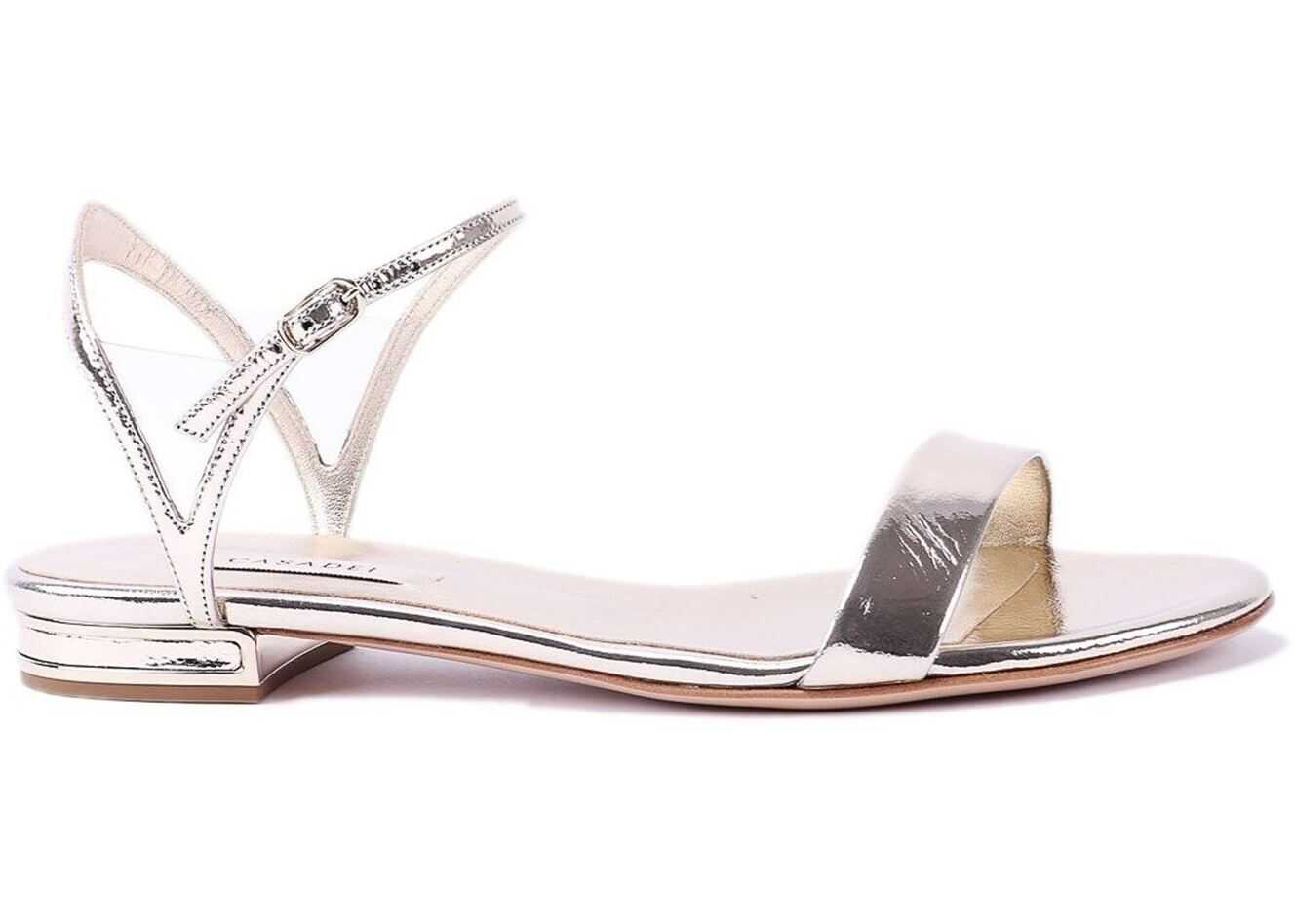 Casadei V Celebrity Sandals In Palladio Color Silver
