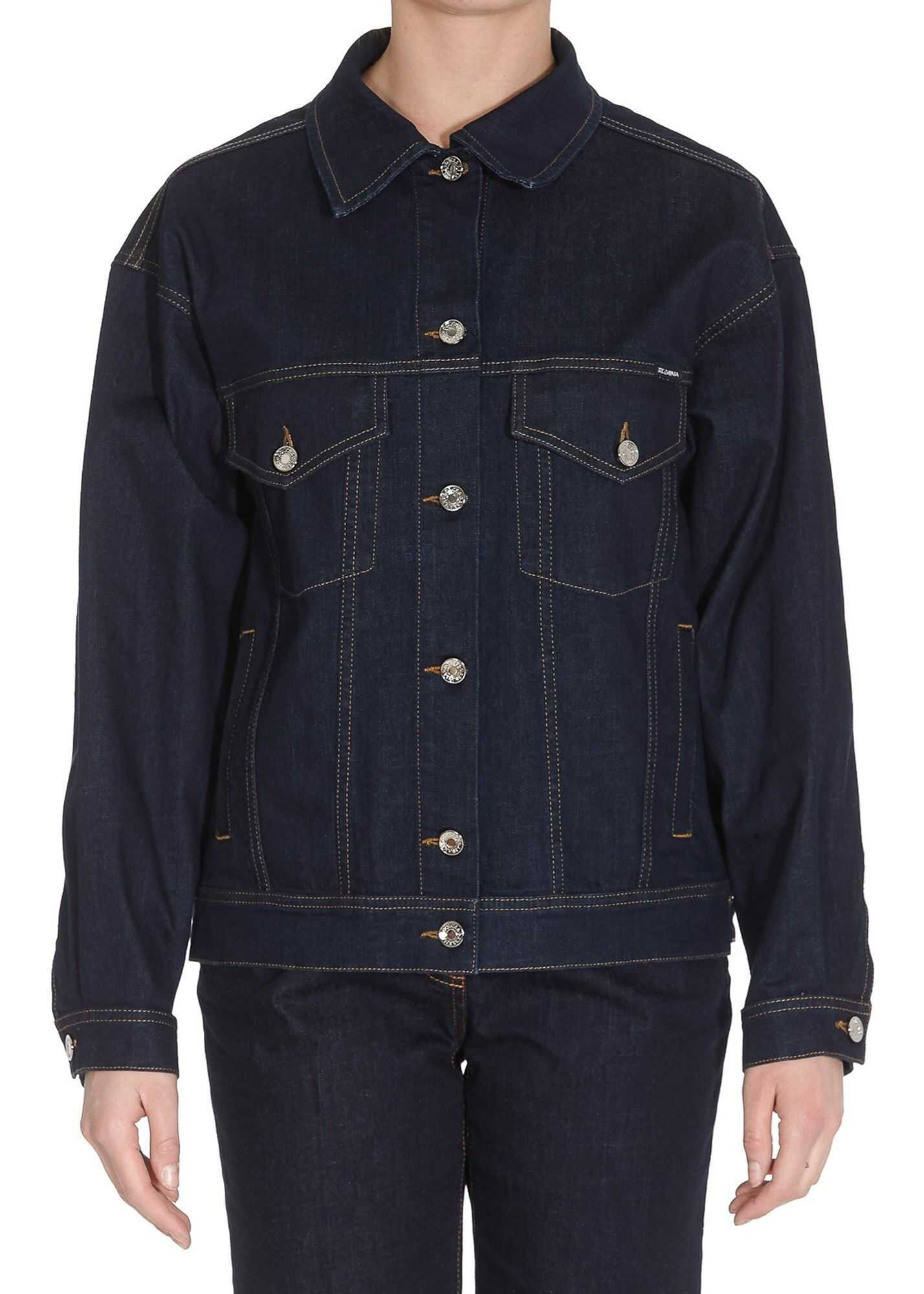 Dolce & Gabbana Denim Jacket In Dark Blue Blue