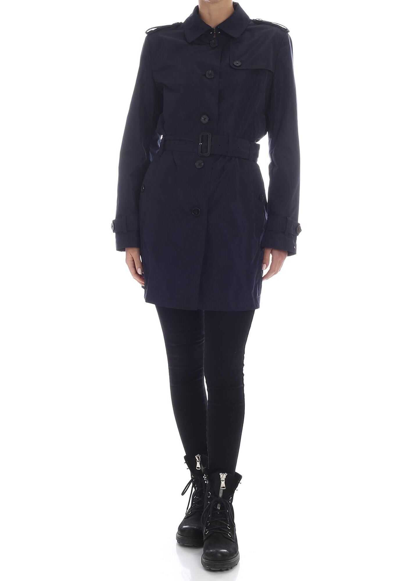 Tommy Hilfiger Cory Trench Coat In Blue Blue
