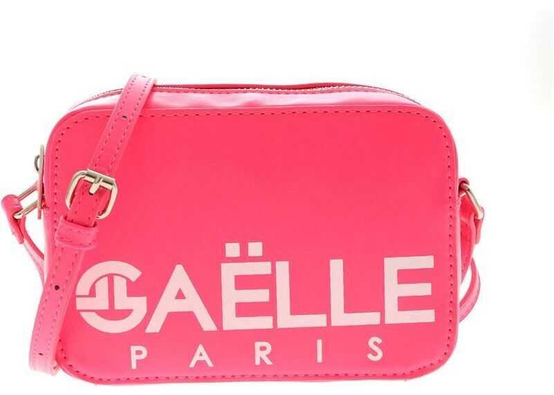 GAëLLE Paris Neon Fuchsia Shoulder Bag With White Logo Fuchsia