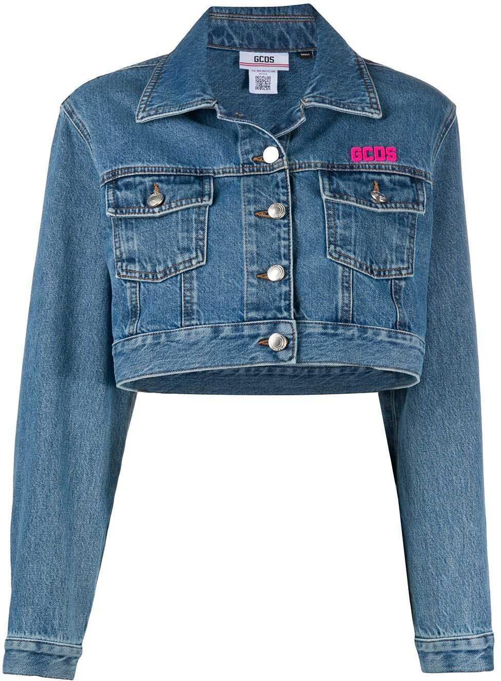GCDS Cotton Jacket BLUE