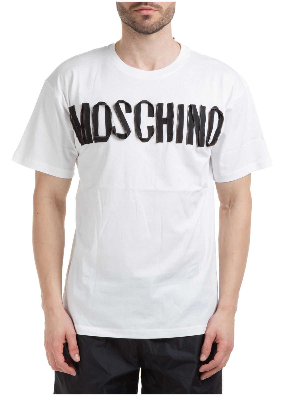 Moschino Neckline Jumper White imagine