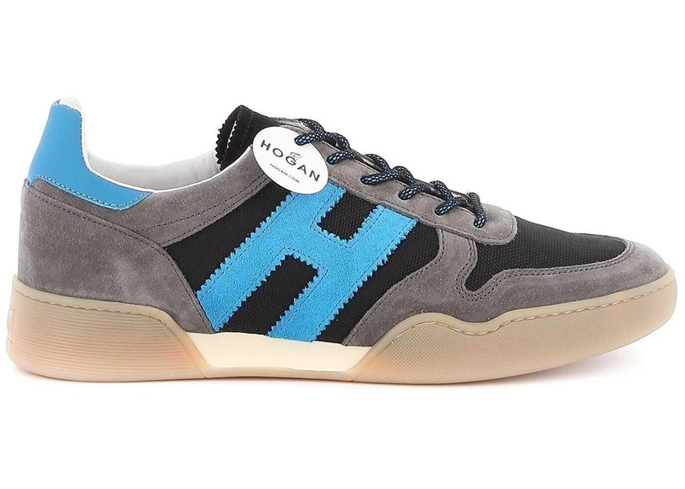 Hogan H357 Sneakers In Black And Grey Grey