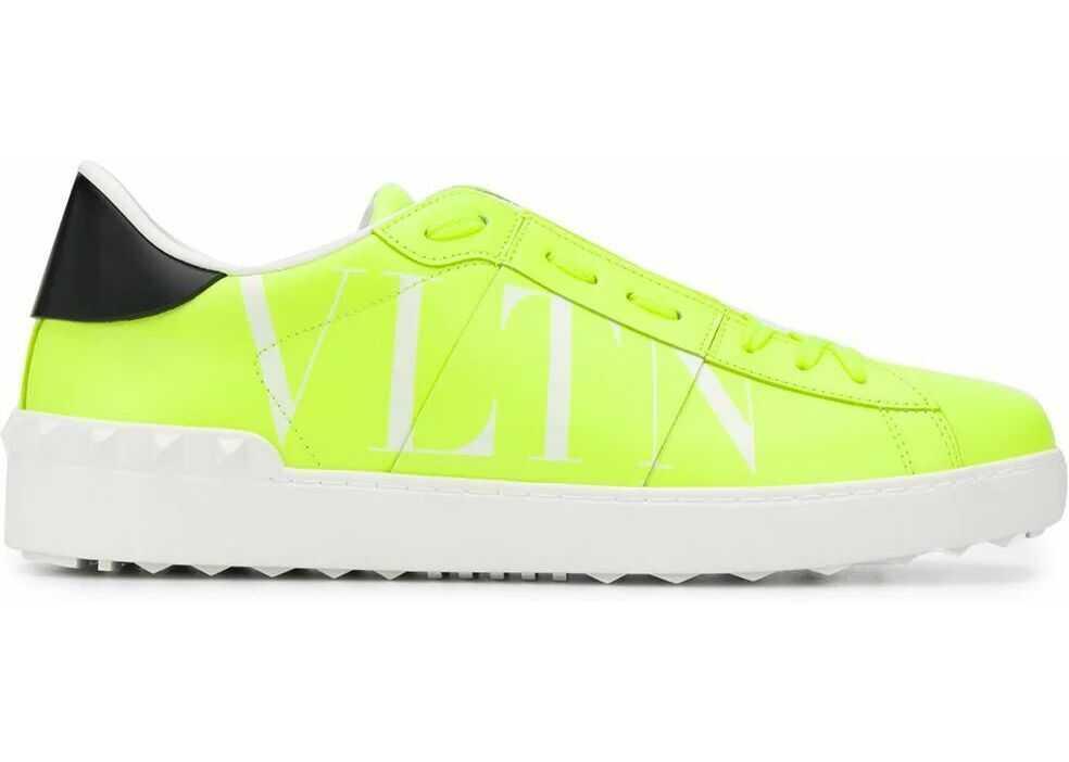 Valentino Garavani Leather Sneakers YELLOW
