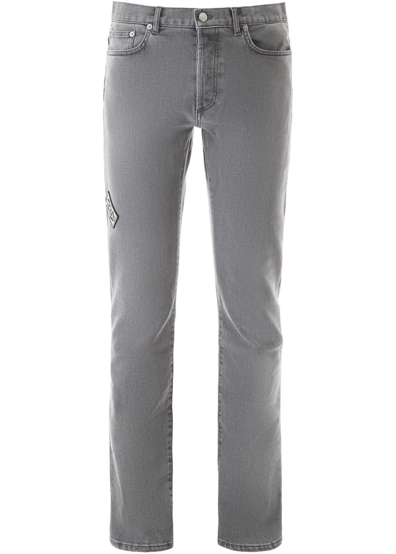 Dior Jeans With Archives Patches LIGHT GREY
