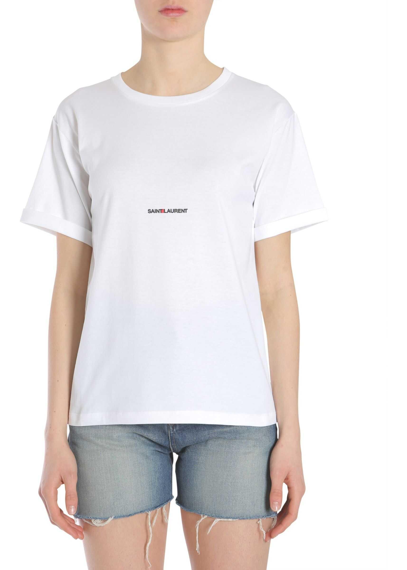 Saint Laurent Round Neck T-Shirt WHITE