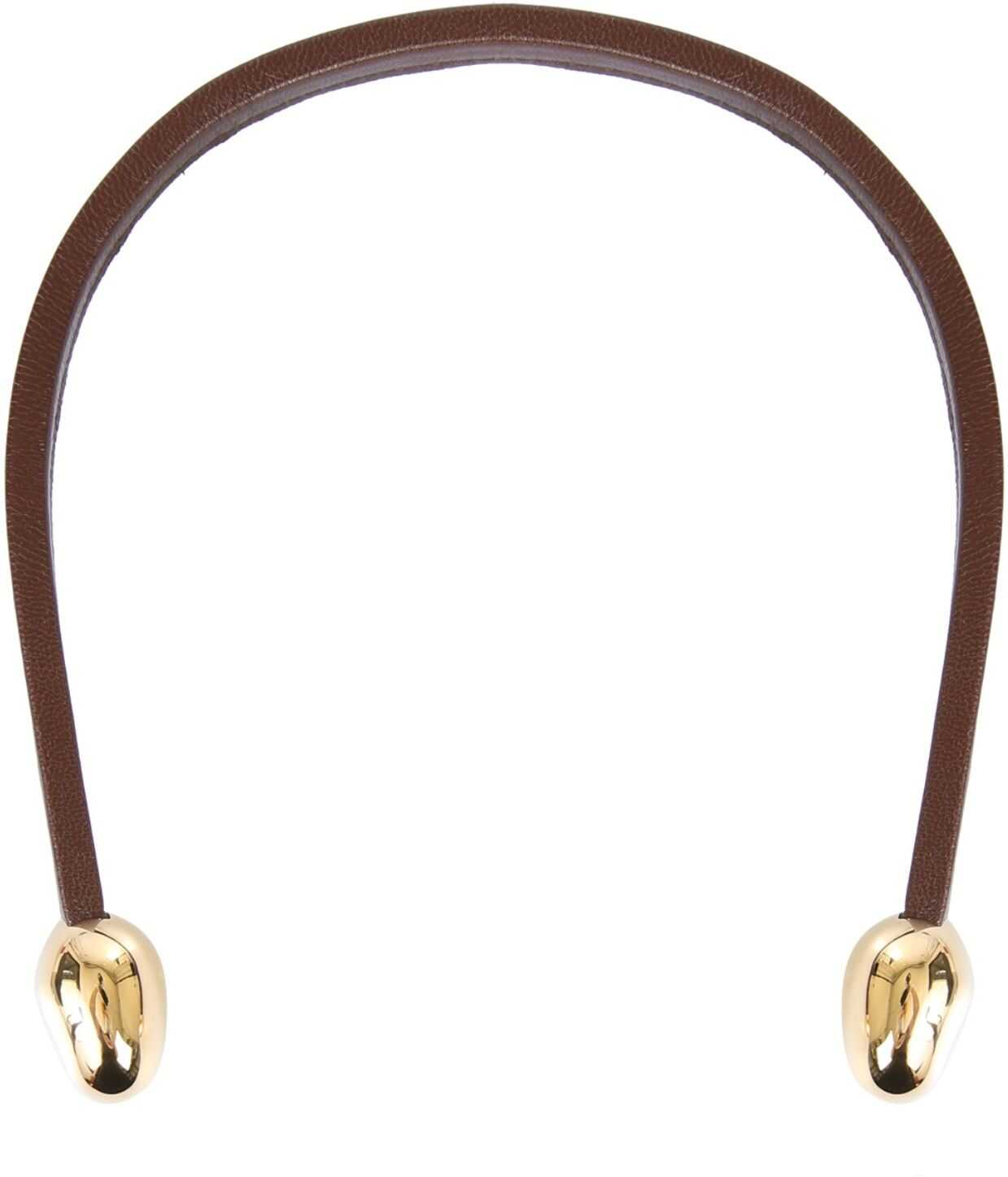 Bottega Veneta Leather Necklace BROWN