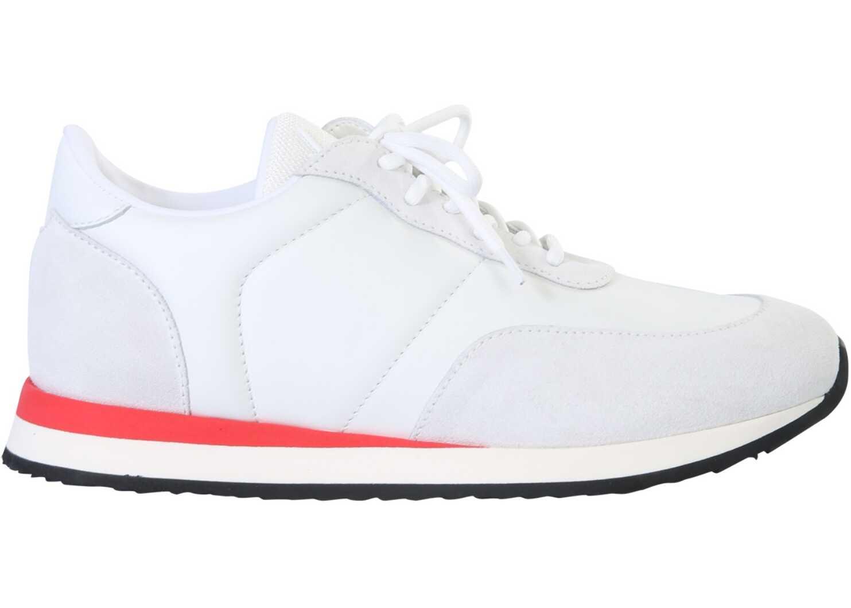 "Giuseppe Zanotti ""Jimy"" Sneakers EU00055_008 WHITE imagine b-mall.ro"