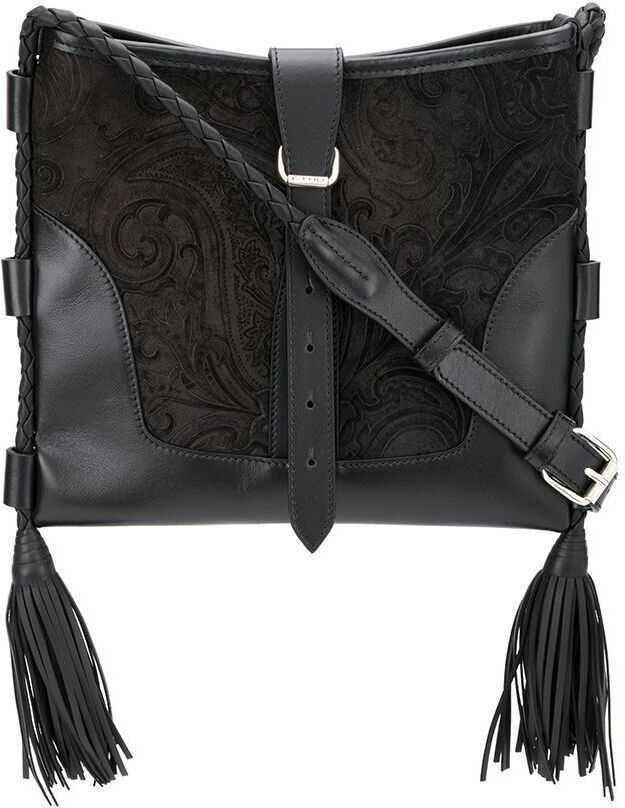 ETRO Leather Shoulder Bag BLACK