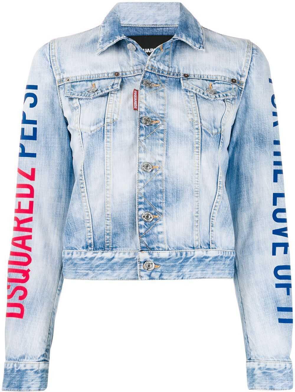 DSQUARED2 Cotton Outerwear Jacket BLUE