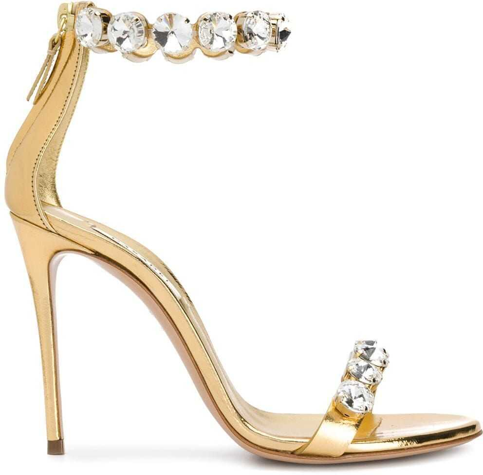 Casadei Leather Sandals GOLD