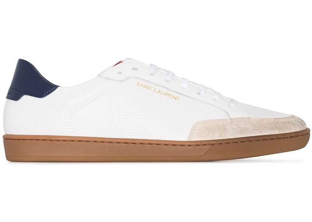Saint Laurent Leather Sneakers WHITE