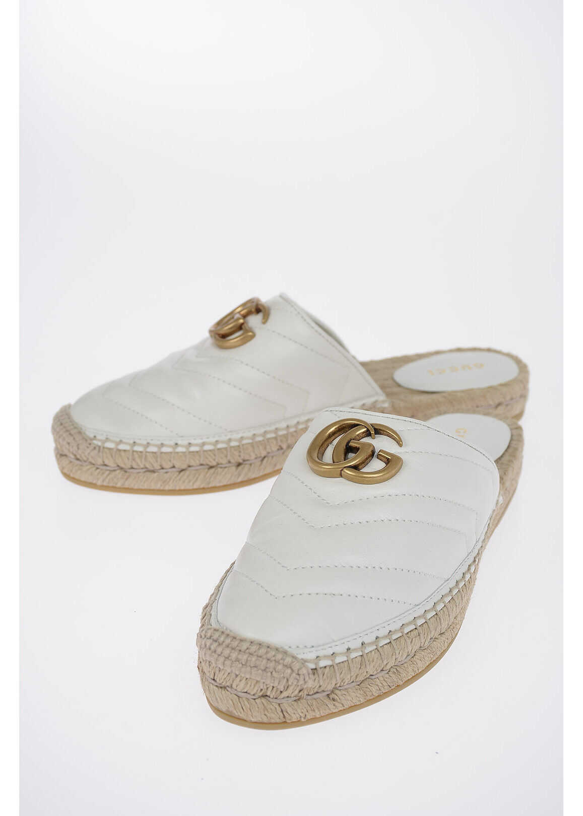 Gucci Leather Slippers WHITE