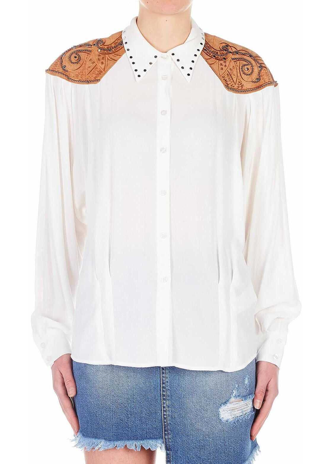 Silvian Heach Blouse with ethno embroidery