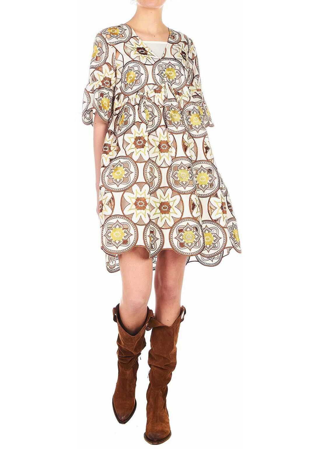 Silvian Heach Floral dress with cut outs