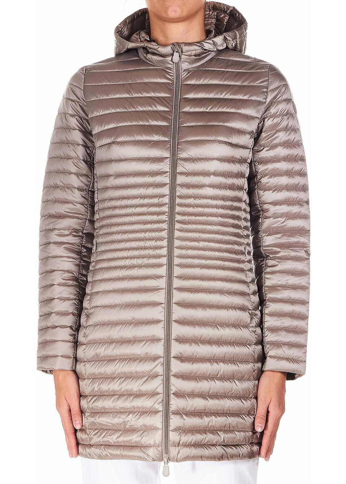 Save the Duck Long quilted jacket \