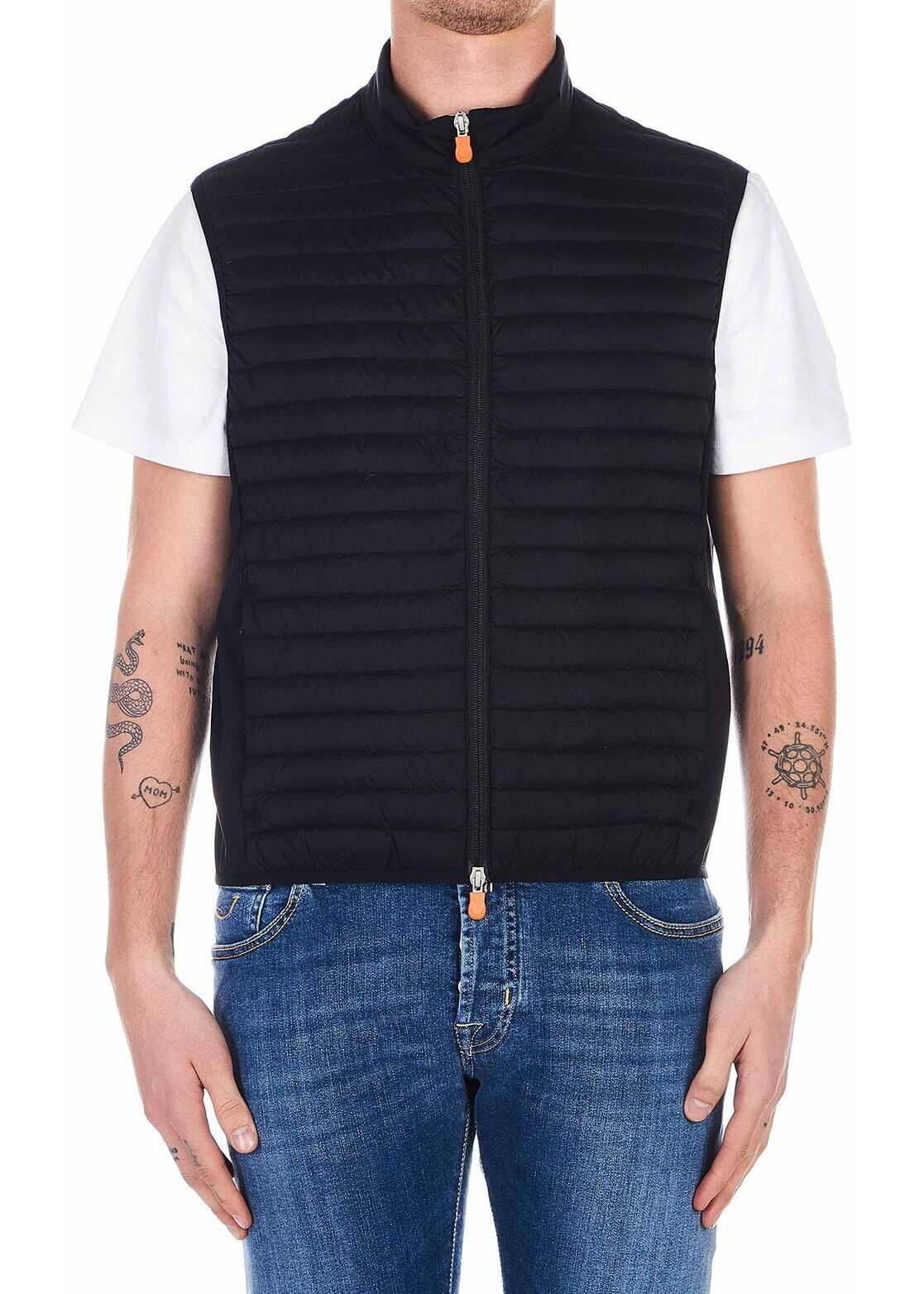 Save the Duck Lightweight quilted vest Black