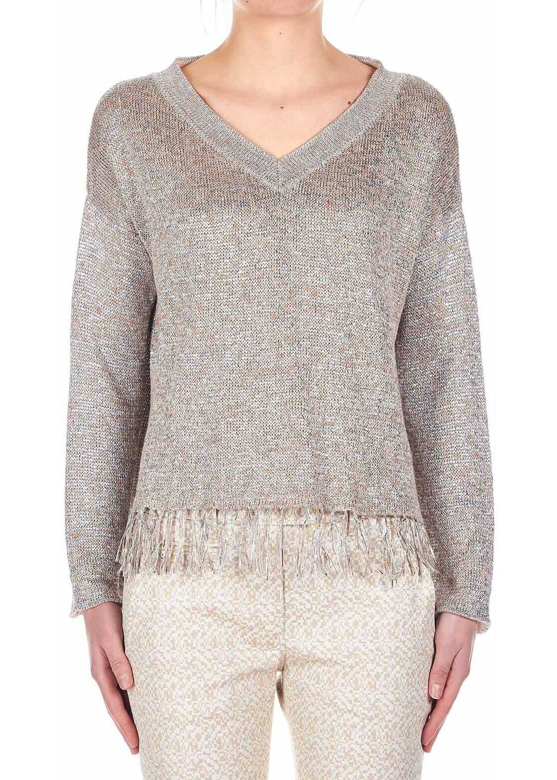 Dondup Knitted sweater Gold
