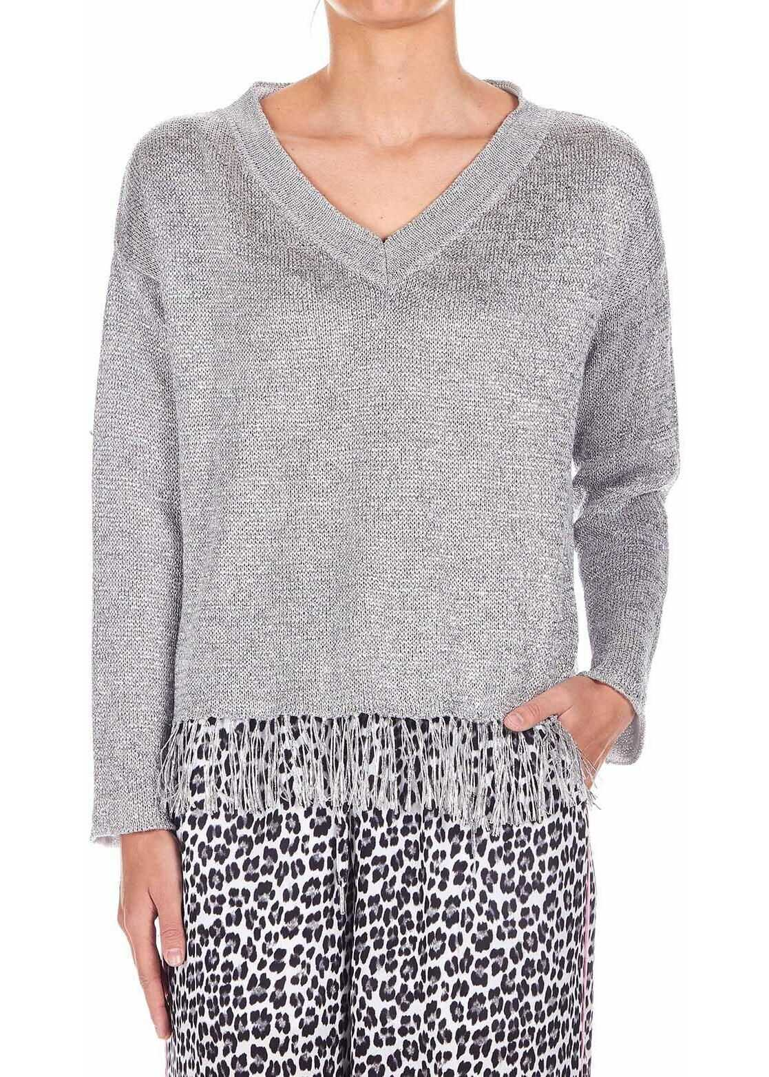 Dondup Knitted sweater Silver