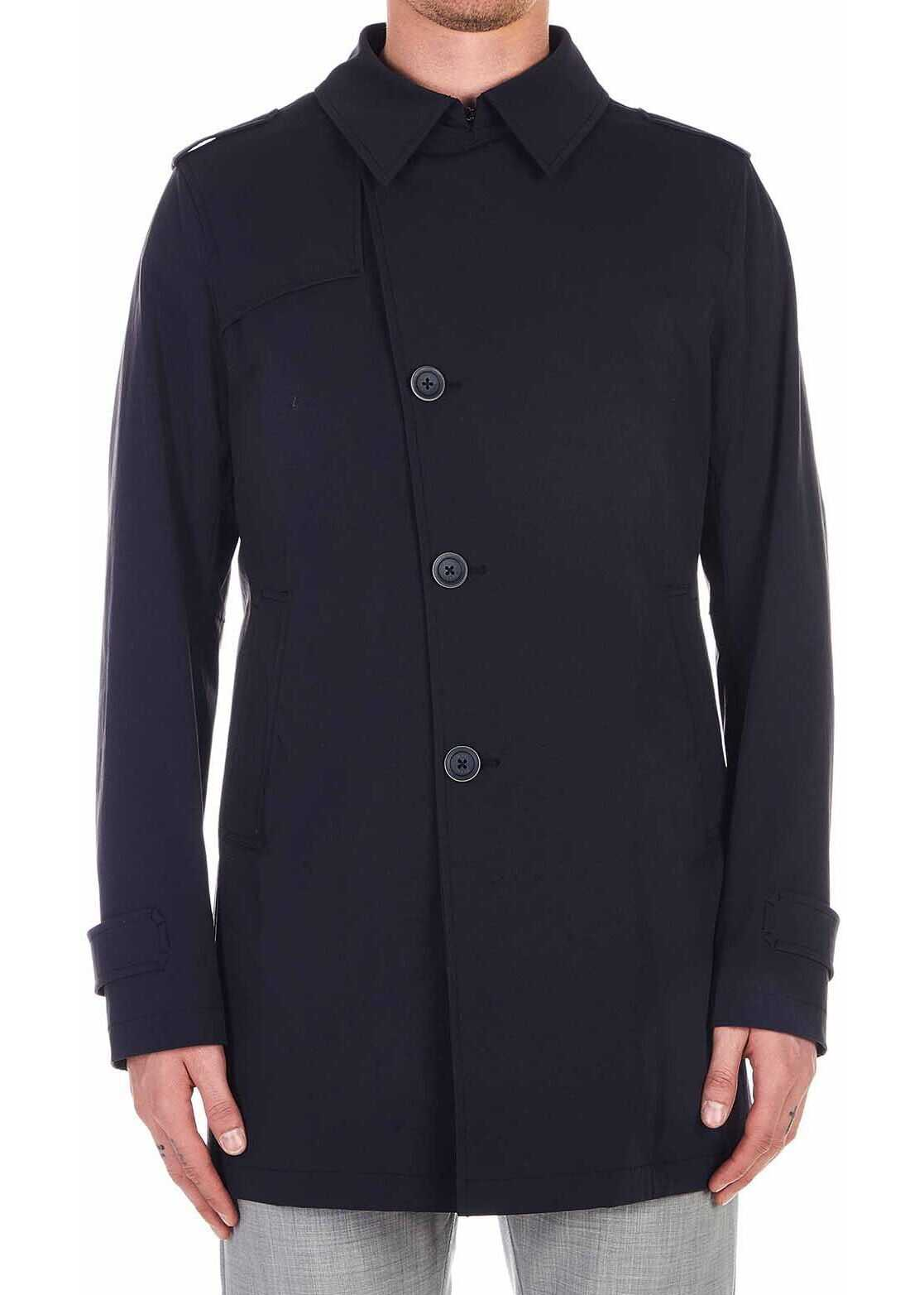 Herno Trench coat Blue
