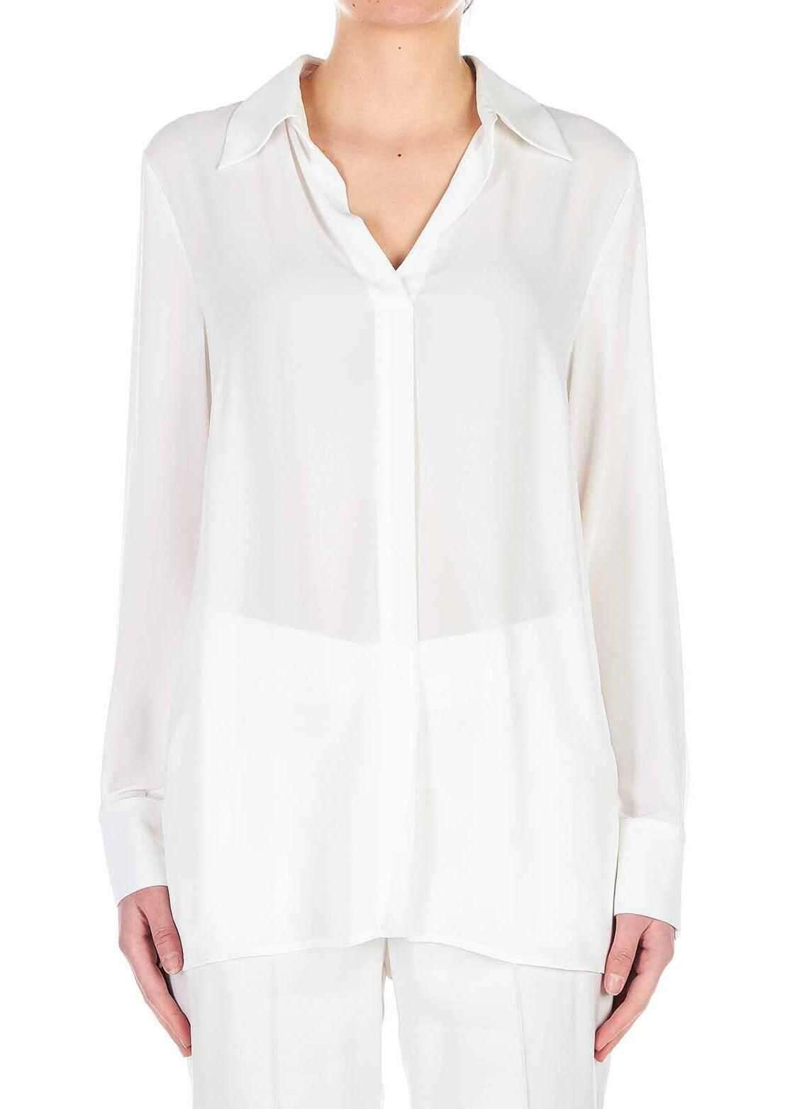 Silvian Heach Blouse with V-neck White
