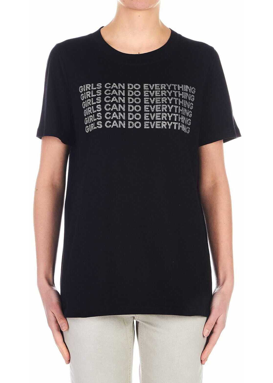 Dondup T-Shirt with glitter details Black