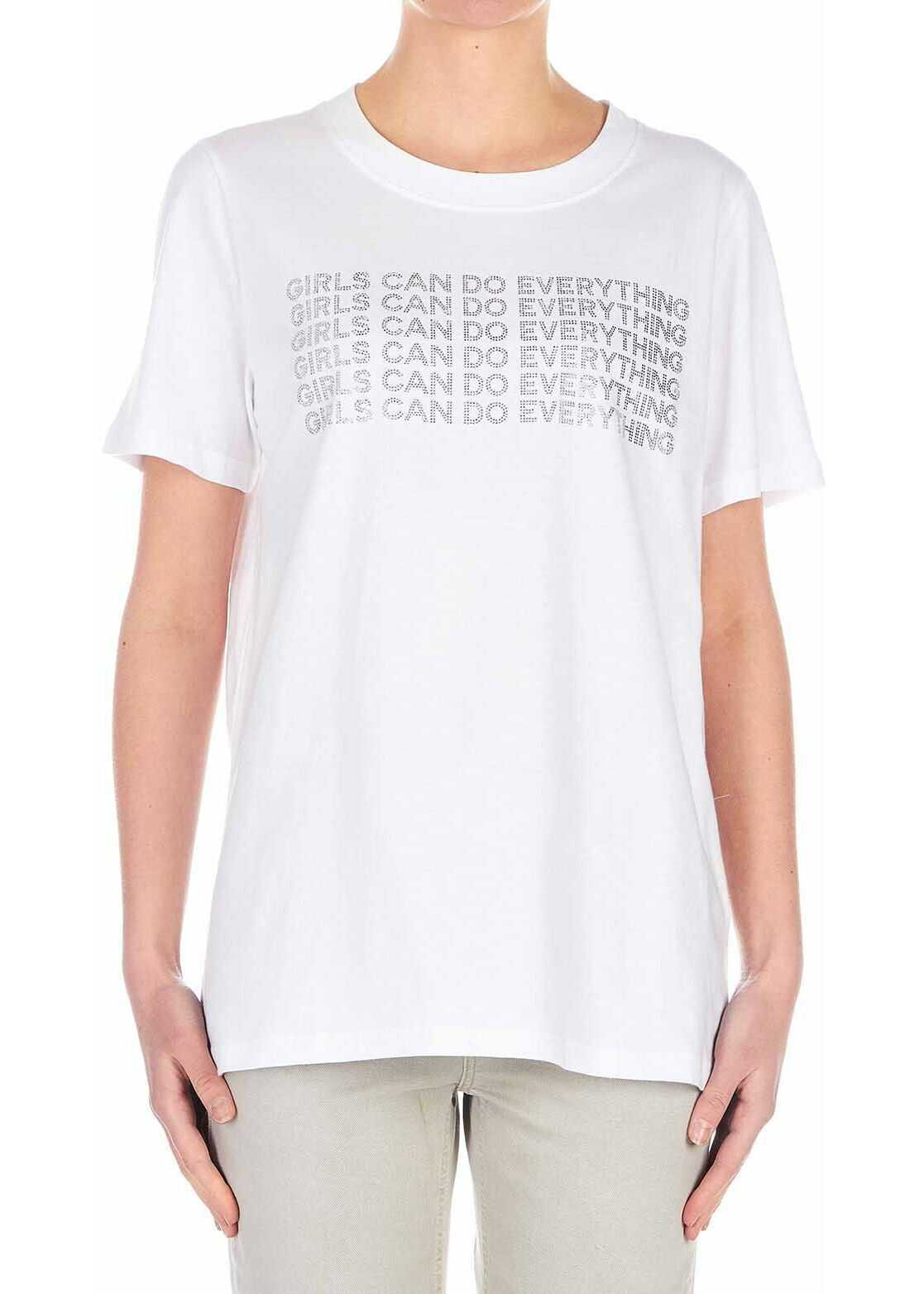 Dondup T-Shirt with glitter details White