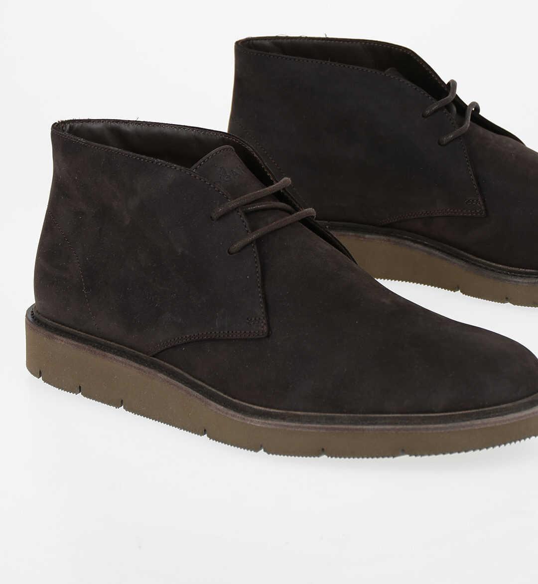 Hogan Suede Desert Boots BROWN