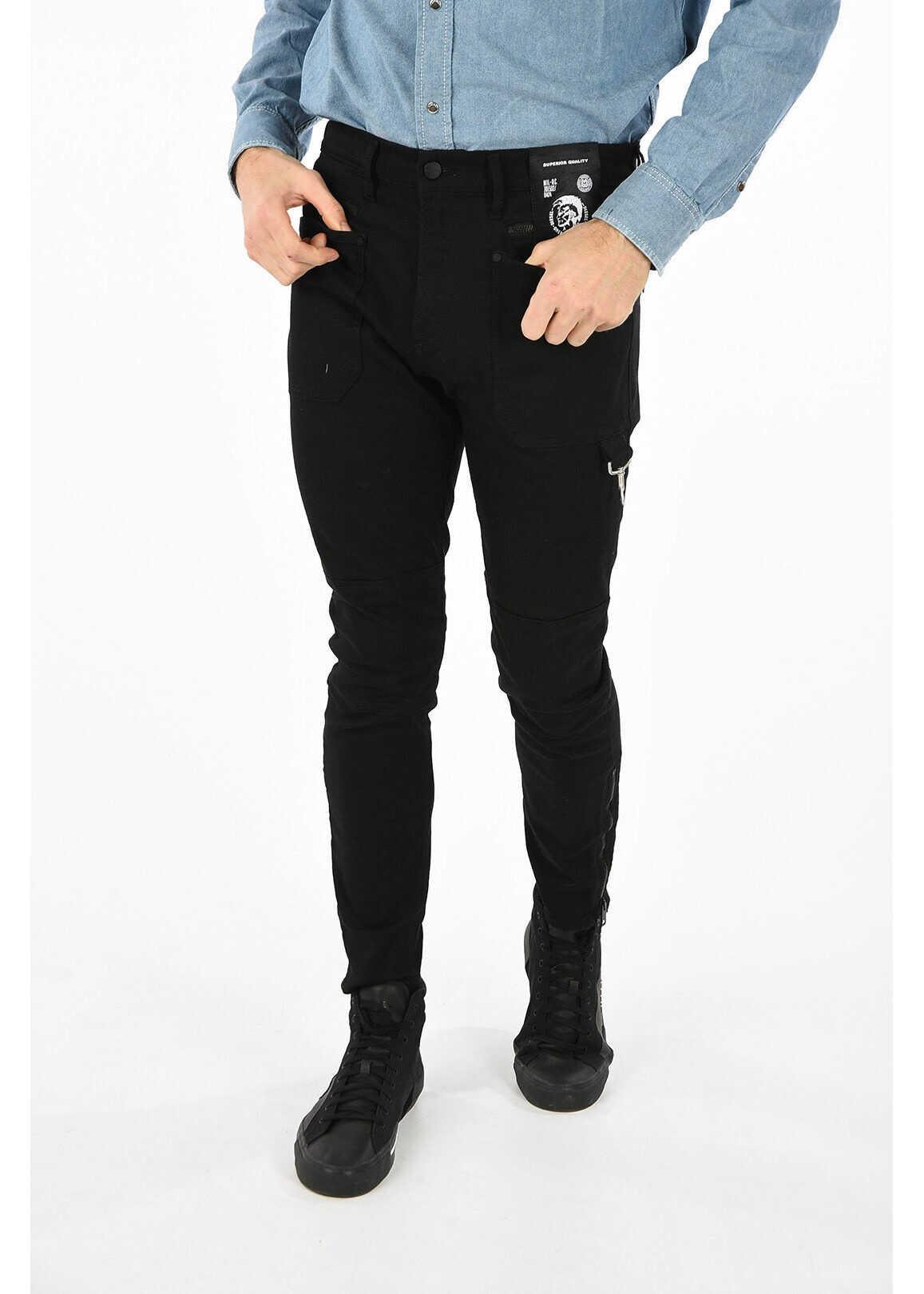 Diesel Slim Fit D-PHORMER L.32 14cm Jeans* BLACK