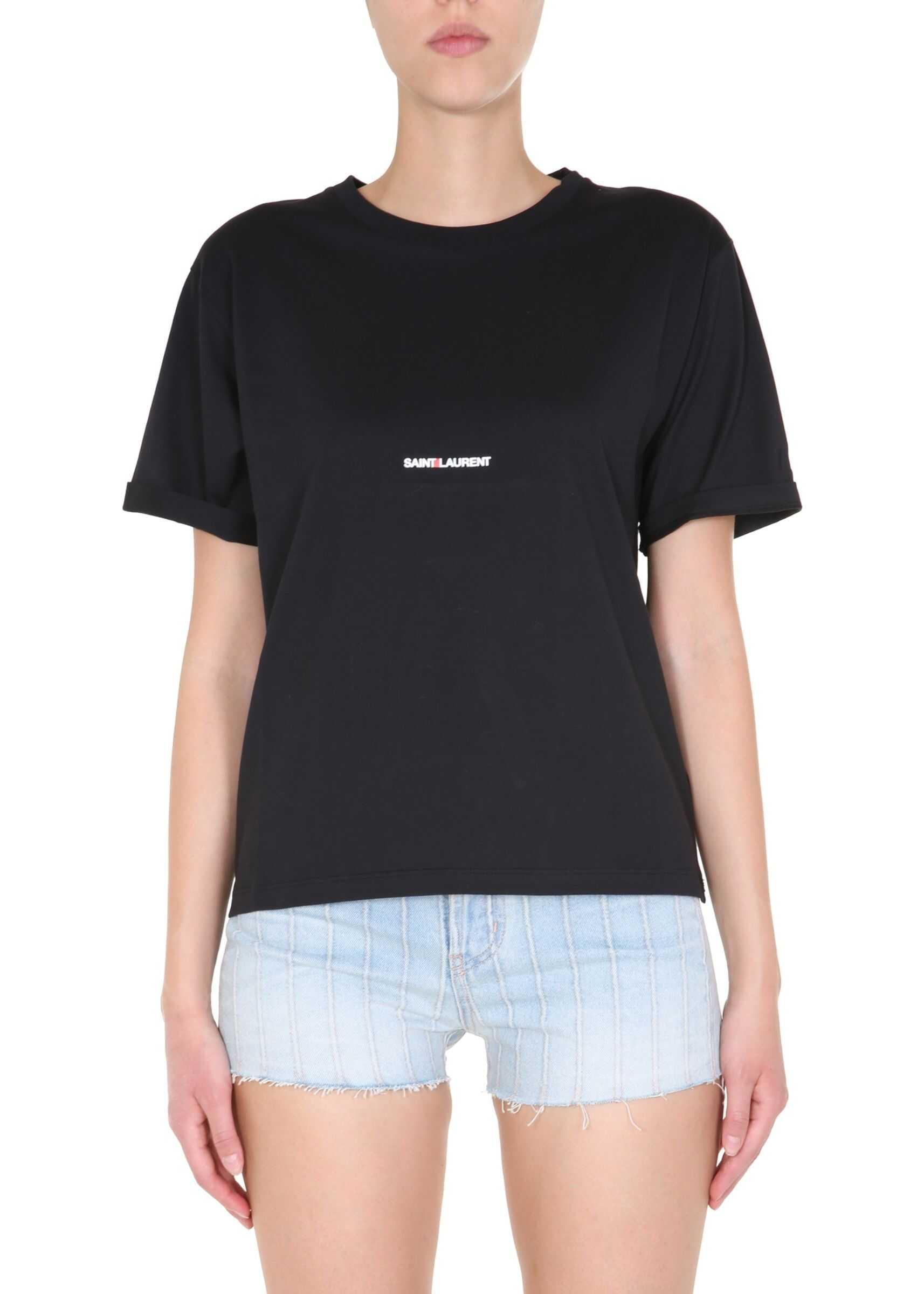 Saint Laurent Round Neck T-Shirt BLACK