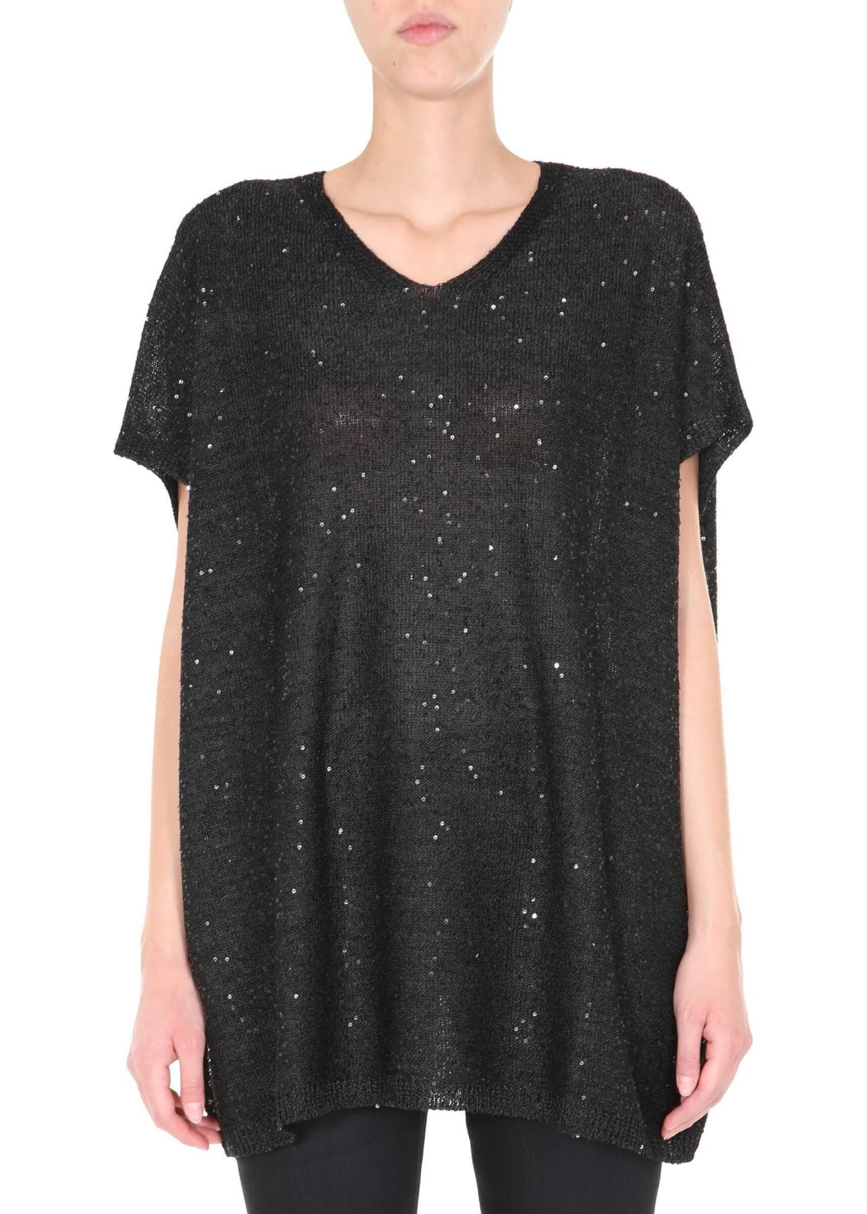 Saint Laurent Oversize Fit T-Shirt BLACK