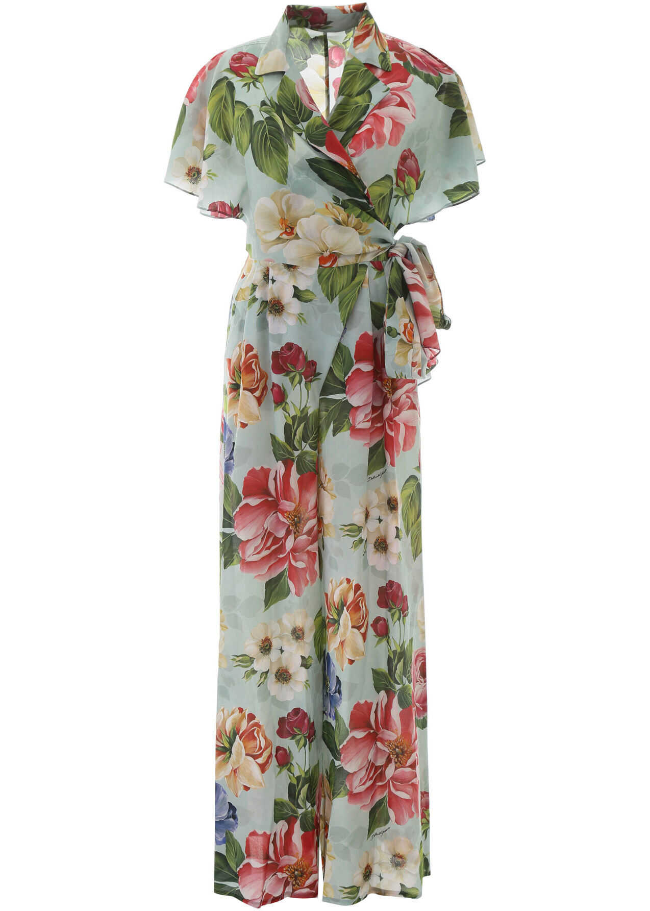 Dolce & Gabbana Floral Print Jumpsuit FIORI OMBRE F AZZURR