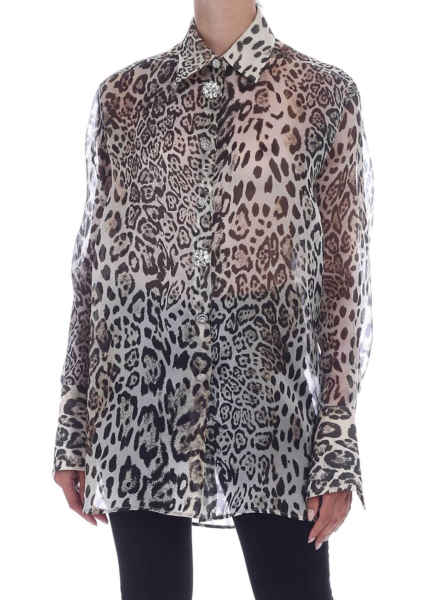 Ermanno Scervino Animal Print Silk Shirt Animal print