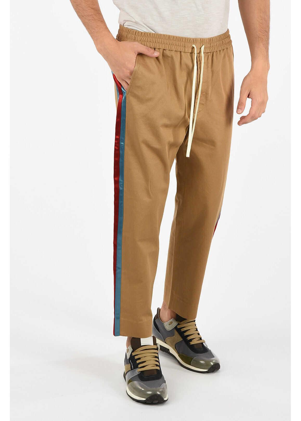 Gucci Drawstring Piping Pants BROWN
