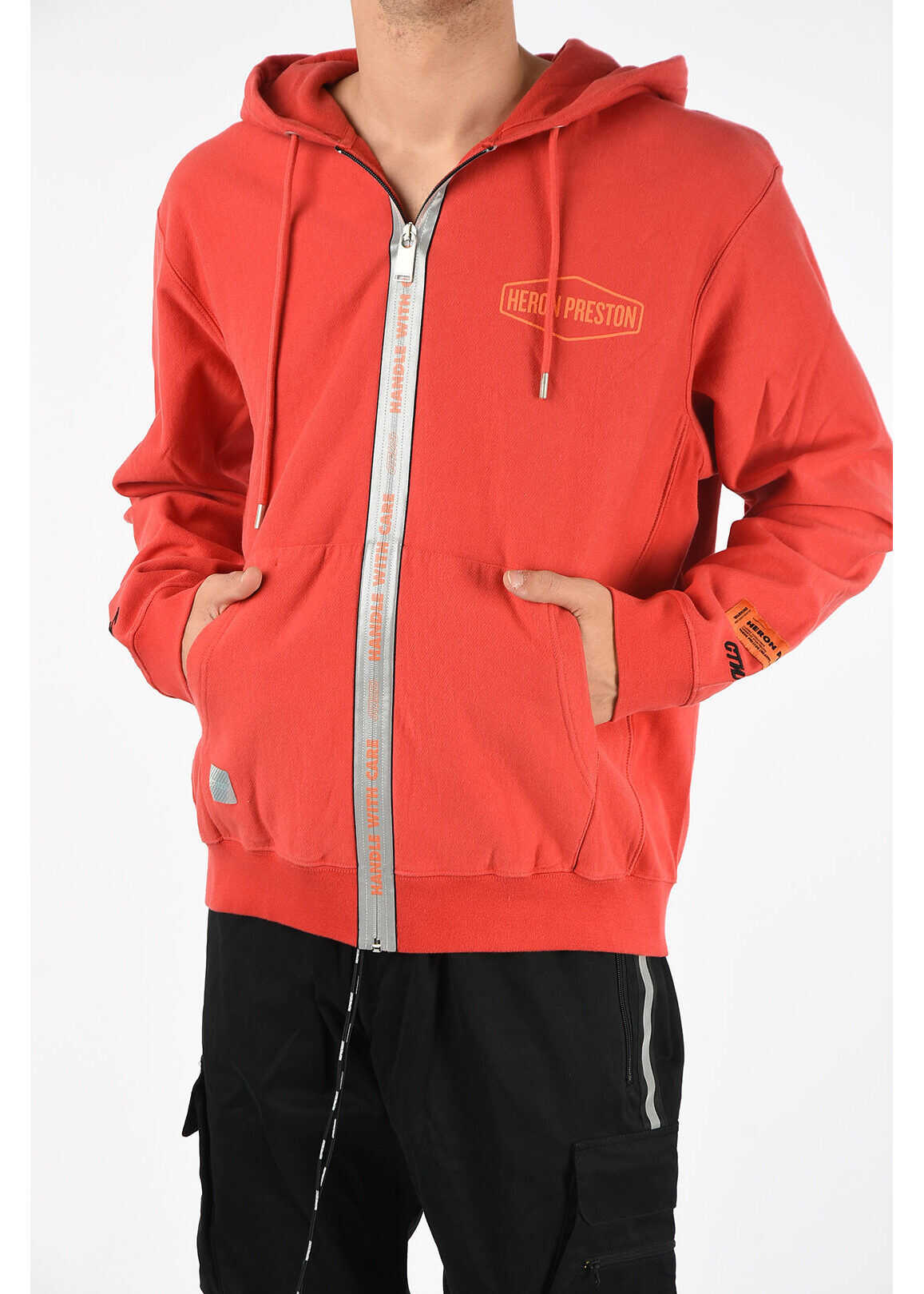 Heron Preston Full Zip Sweatshirt RED